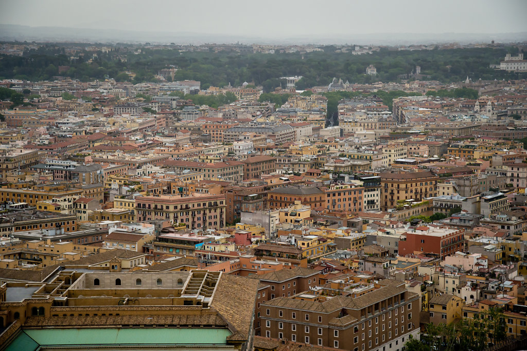 View from the cupola of St Peter's Basilica